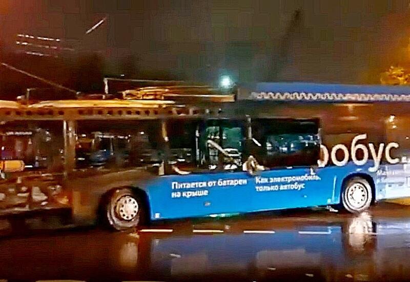 В Москве впервые за три года сгорел электробус