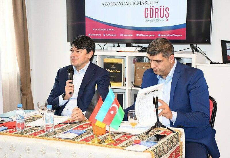 """В """"Доме Aзербайджана"""", функционирующем в Мюнхене, состоялась встреча с членами общины"""
