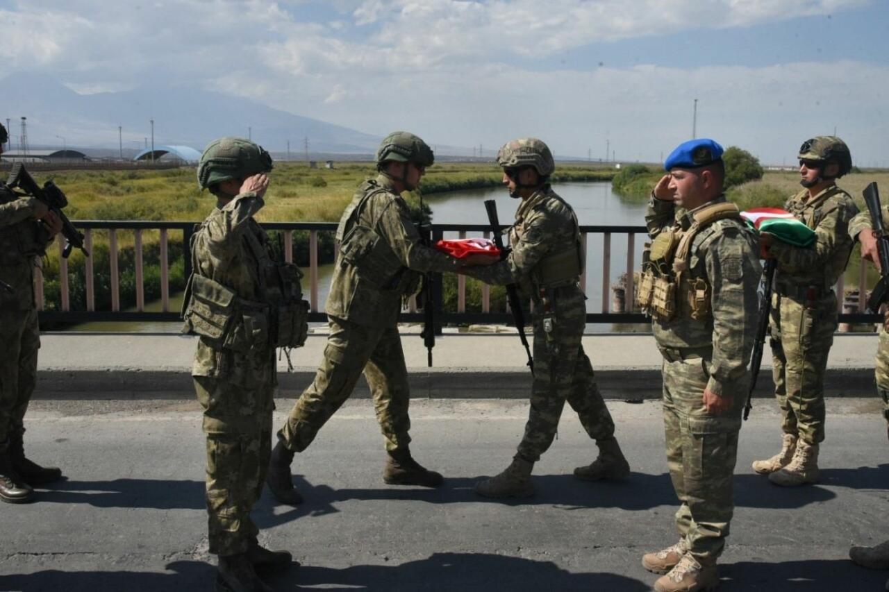 Турецкие военнослужащие, которые будут участвовать в учениях «Нерушимое братство-2021», прибыли в Азербайджан