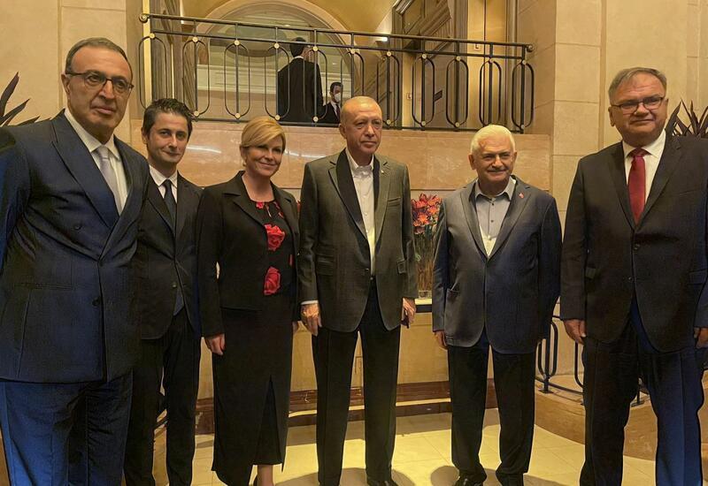 Члены Международного центра Низами Гянджеви встретились с Президентом Турции