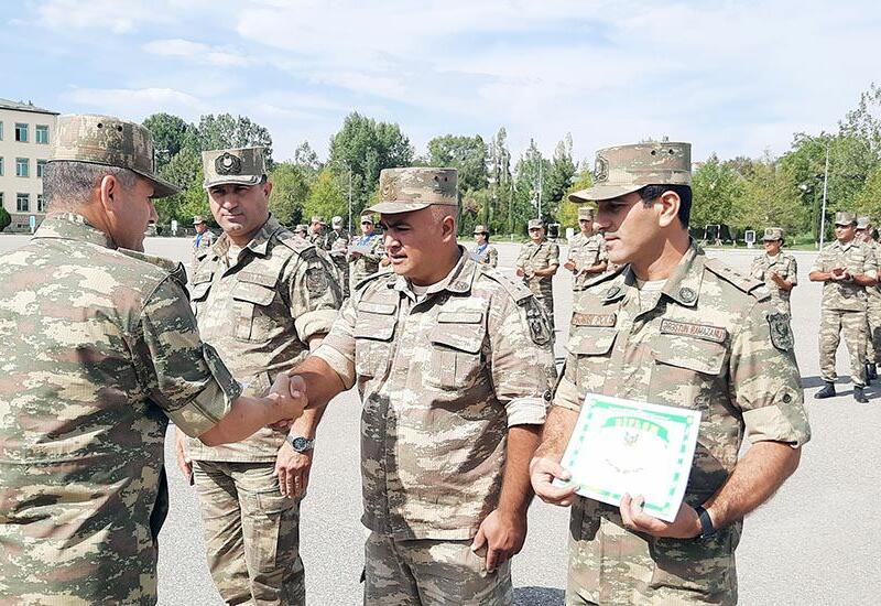 Завершились состязания по ориентированию на местности среди азербайджанских военнослужащих