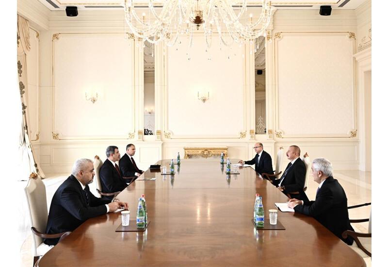 Президент Ильхам Алиев принял министра нефти Ирака