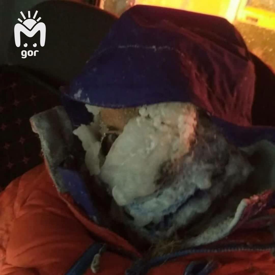 Обмороженные, уставшие, но улыбающиеся - так выглядят туристы, спасенные на Эльбрусе