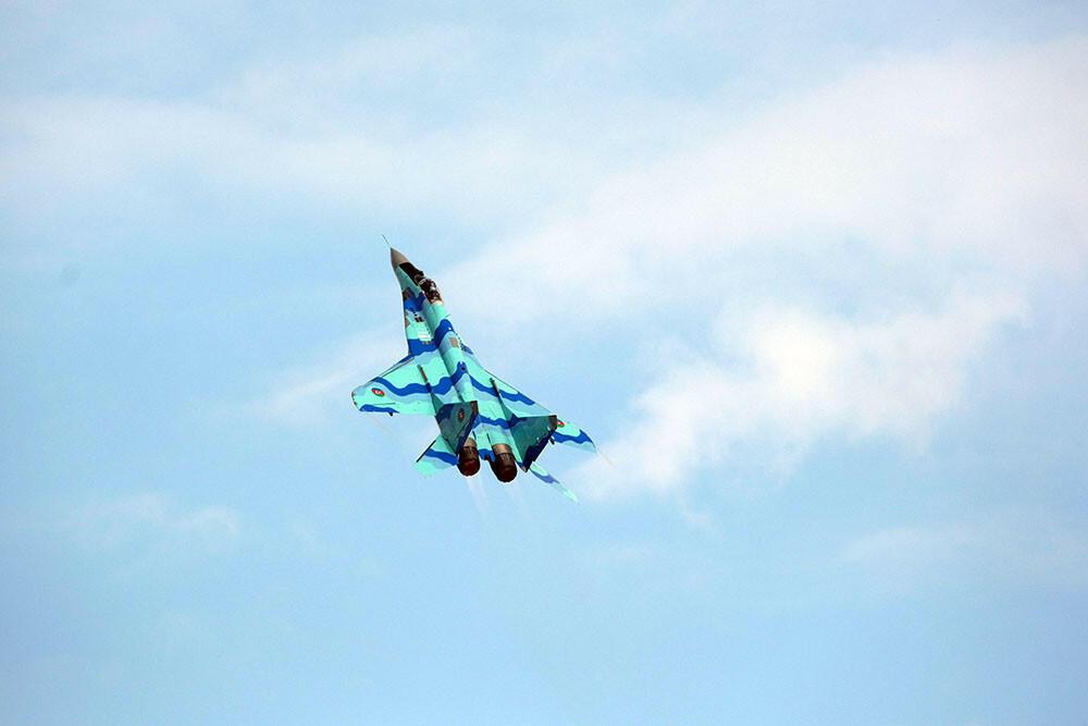 Азербайджанские военные летчики выполнили очередной полет на фестивале «Технофест-2021»