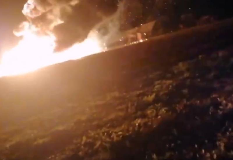 Камера сняла мощный взрыв под Тюменью