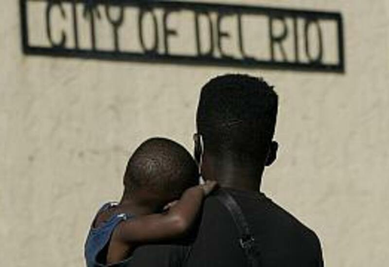 Приют для гаитянских мигрантов в Мексике