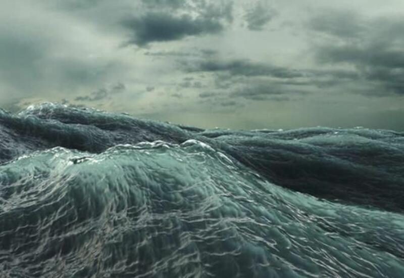 Высота волн в Каспийском море достигала 4,6 м