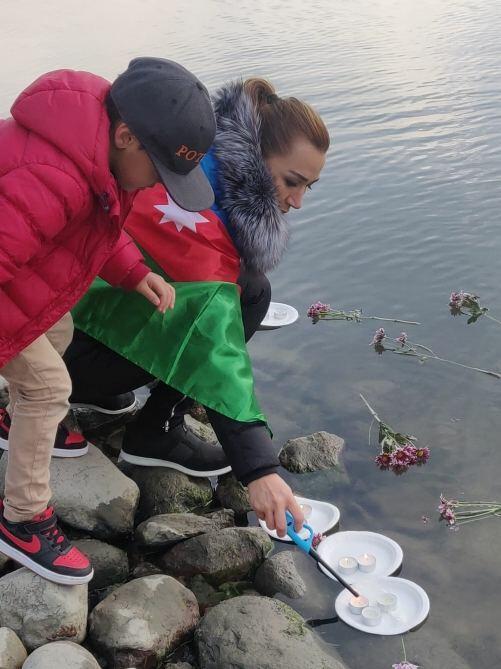 Helsinki şəhərində Anım Günü ilə əlaqədar aksiya keçirilib