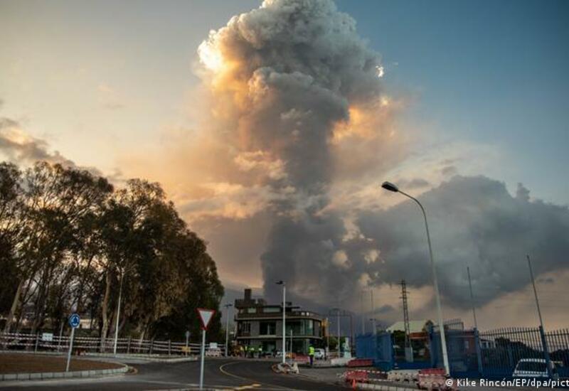Извержение на острове Пальма: газ и пепел