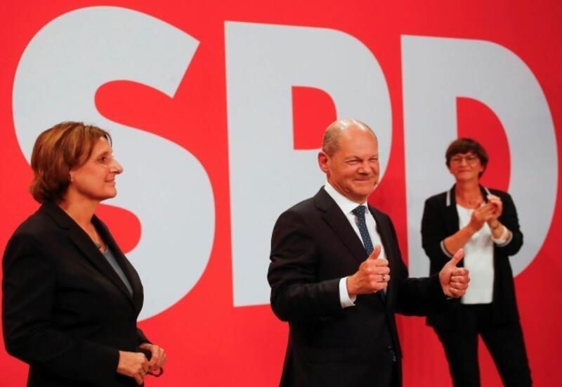 Социал-демократы ФРГ одержали победу на выборах в Бундестаг
