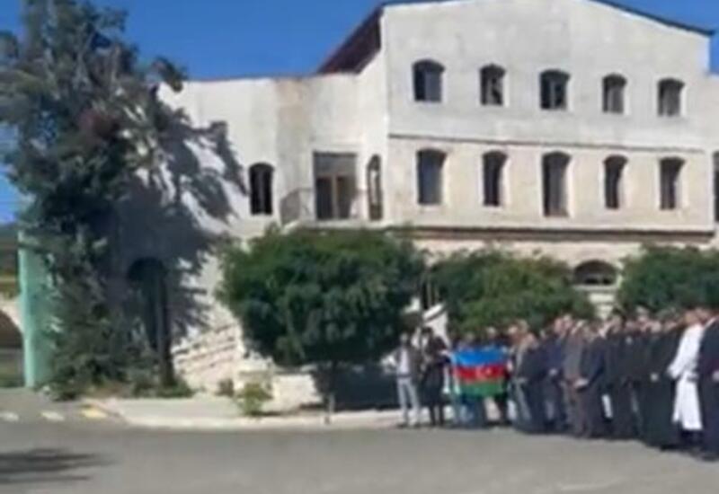 В Шуше транслировалось историческое обращение Президента Ильхама Алиева к азербайджанскому народу