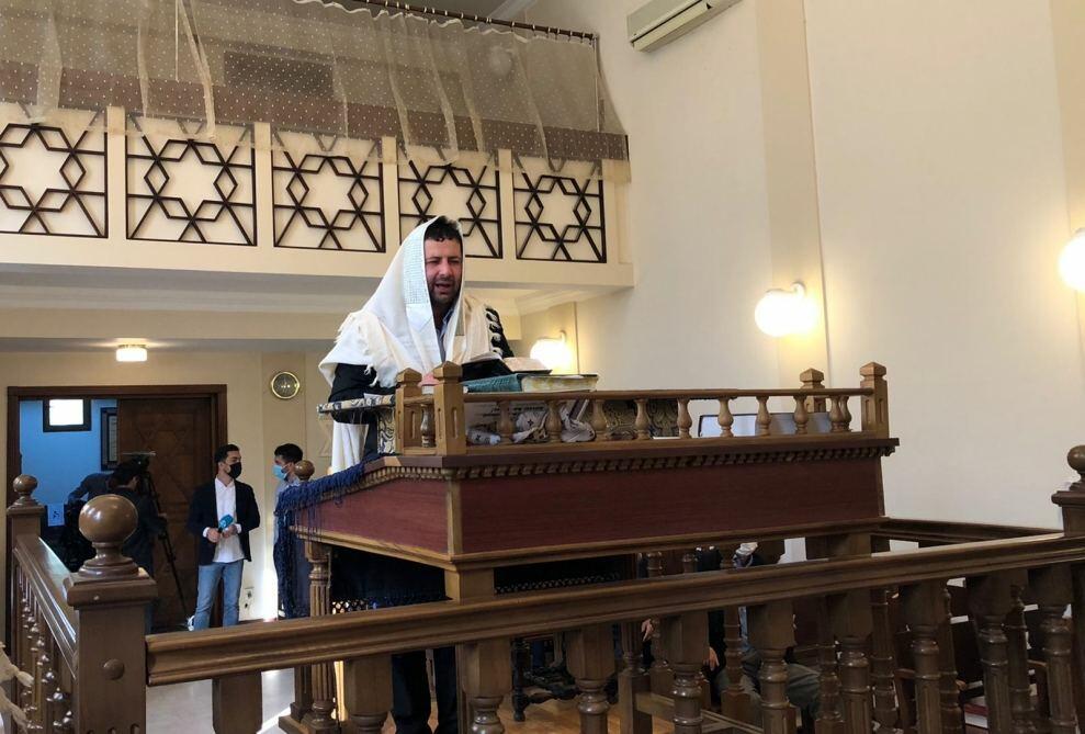 В Синагоге европейских евреев в Баку прошла церемония почтения памяти шехидов