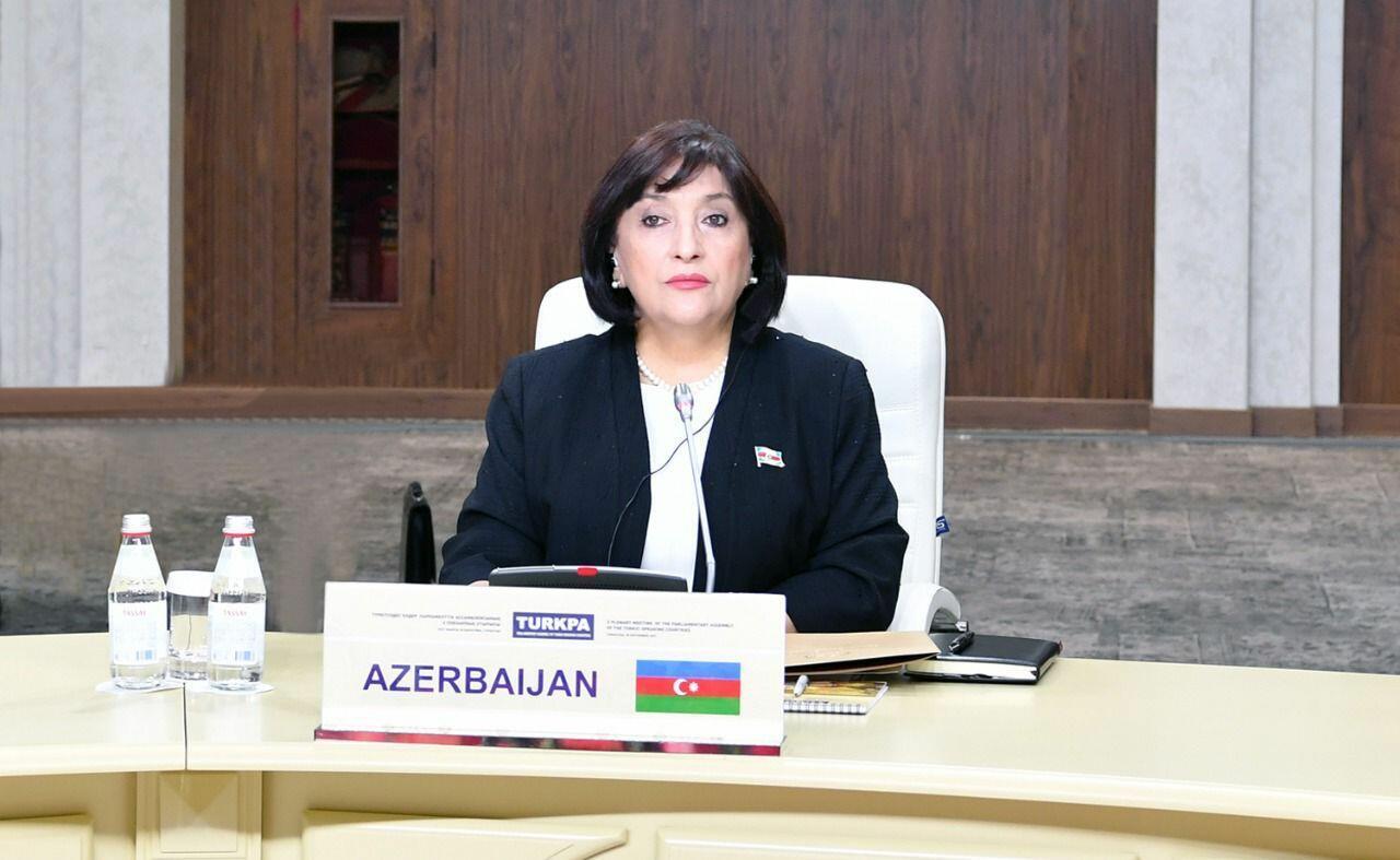 Сахиба Гафарова выступила на заседании Совета ТюркПА