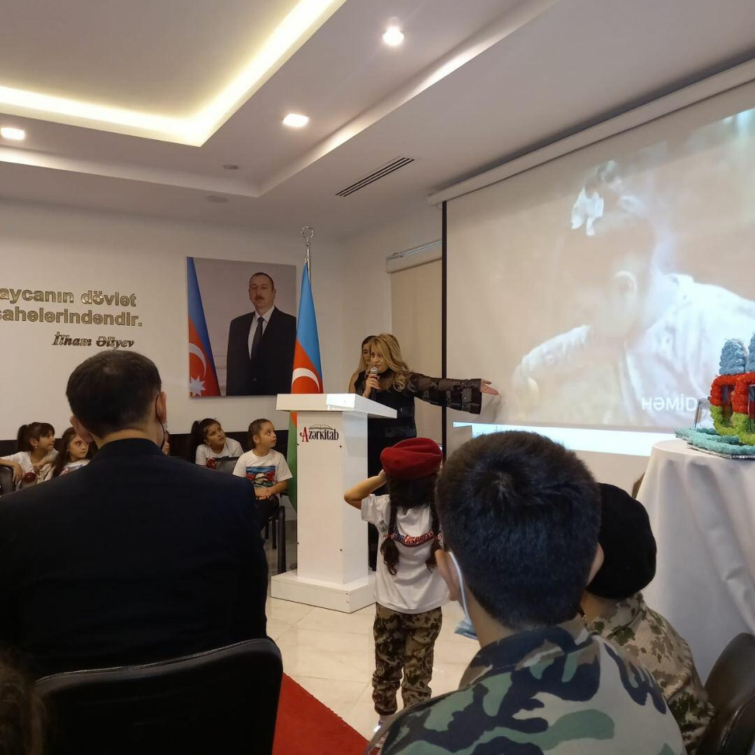 Сестры шехидов Полада Гашимова и Урфана Велизаде вместе с гази Карабахской войны приняли участие в проекте для детей