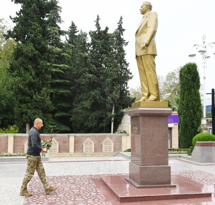Президент Ильхам Алиев прибыл в Тертерский район