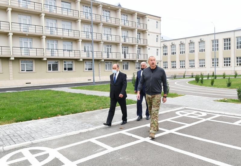 Президент Ильхам Алиев принял участие в открытии Бардинского профессионального лицея
