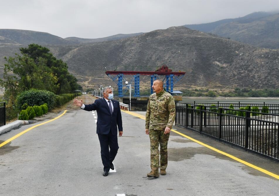 Президент Ильхам Алиев принял участие в открытии после реконструкции малых гидроэлектростанций «Суговушан-1» и «Суговушан-2»