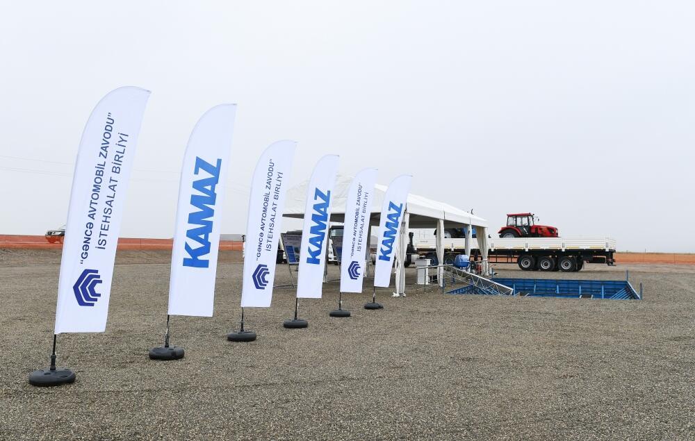 Президент Ильхам Алиев заложил в Джебраиле фундамент совместного сервисного центра ОАО «КамАЗ» и ПО «Гянджинский автомобильный завод»