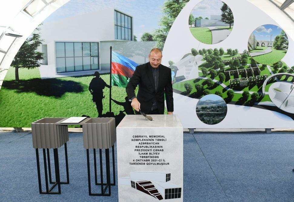 Президенту Ильхаму Алиеву представлен план развития города Джебраил