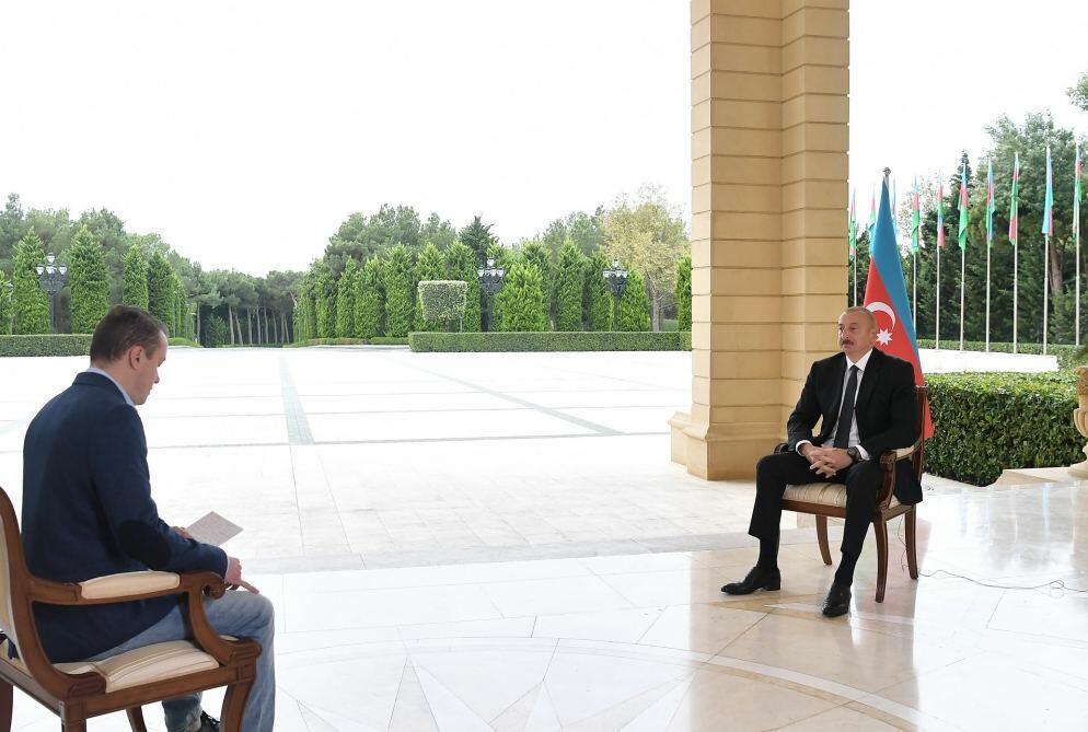 Хроника Победы: Интервью Президента Ильхама Алиева телеканалу «Первый Канал» России от 6 октября 2020 года