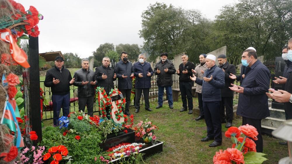 В Загатале почтили память шехидов Отечественной войны