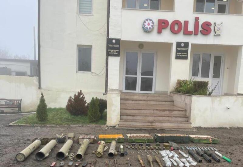 В Шуше обнаружены оружие и боеприпасы