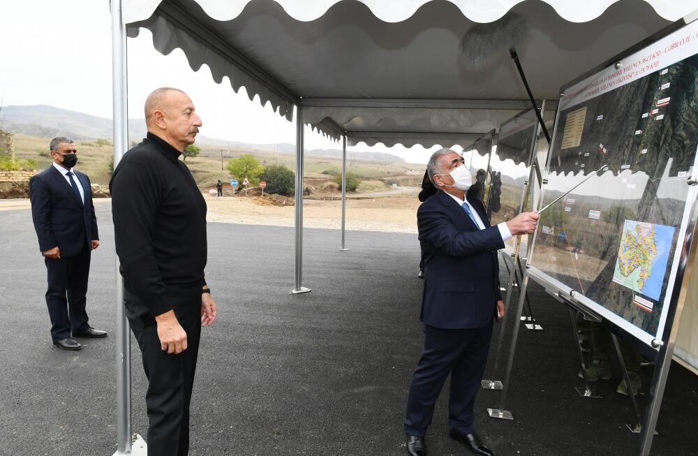 Президент Ильхам Алиев посетил поселок Гадрут и село Туг Ходжавендского района