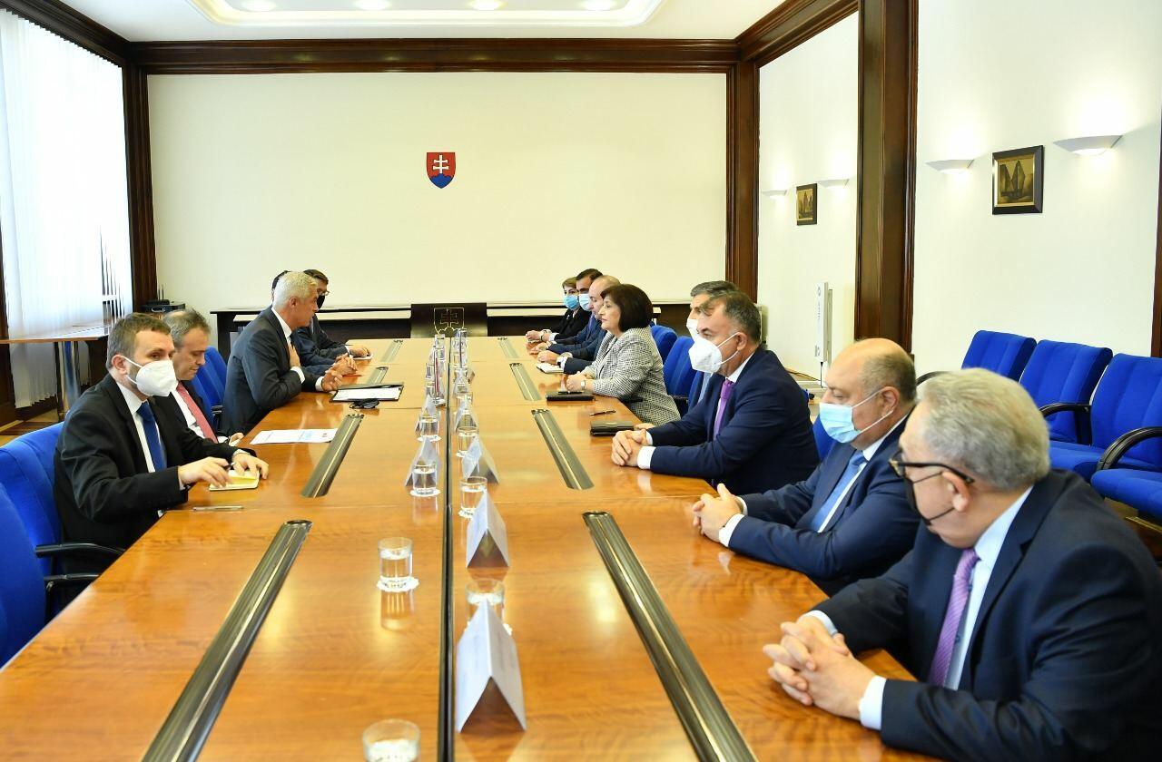 Сахиба Гафарова обсудила с главой МИД Словакии сотрудничество с ЕС