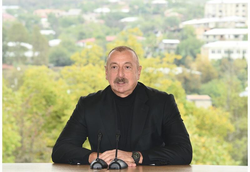 Президент Ильхам Алиев: Фальшивы и история, и прошлое, и государственность Армении