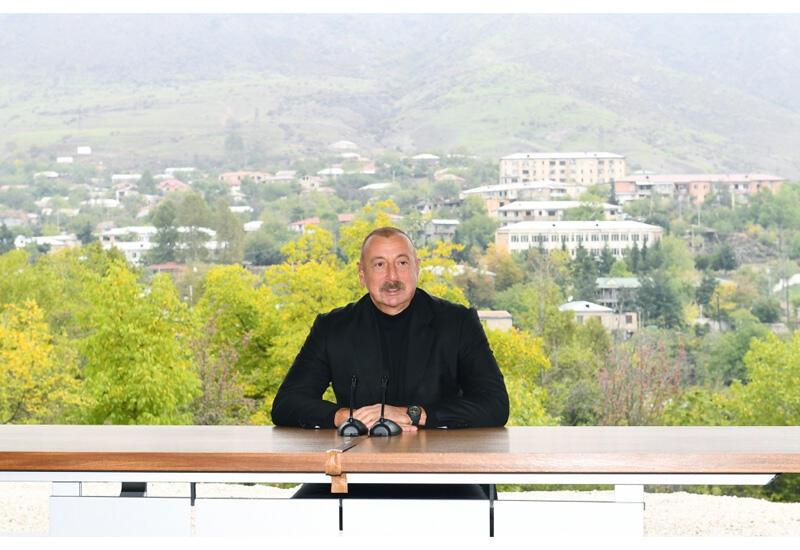 Президент Ильхам Алиев: Армяне были переселены в Гадрут из Ирана в XIX веке