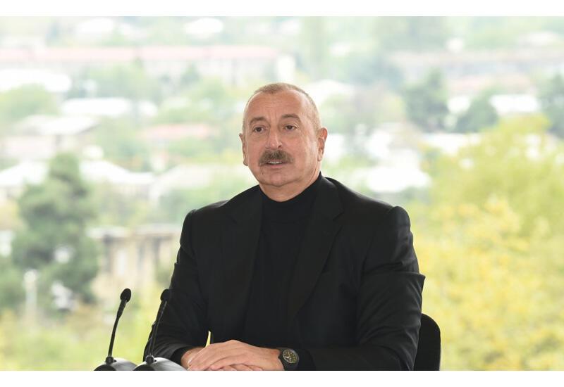 Президент Ильхам Алиев: Азербайджанский народ поверил в нас и был абсолютно уверен в том, что мы одержим историческую Победу. Так и случилось