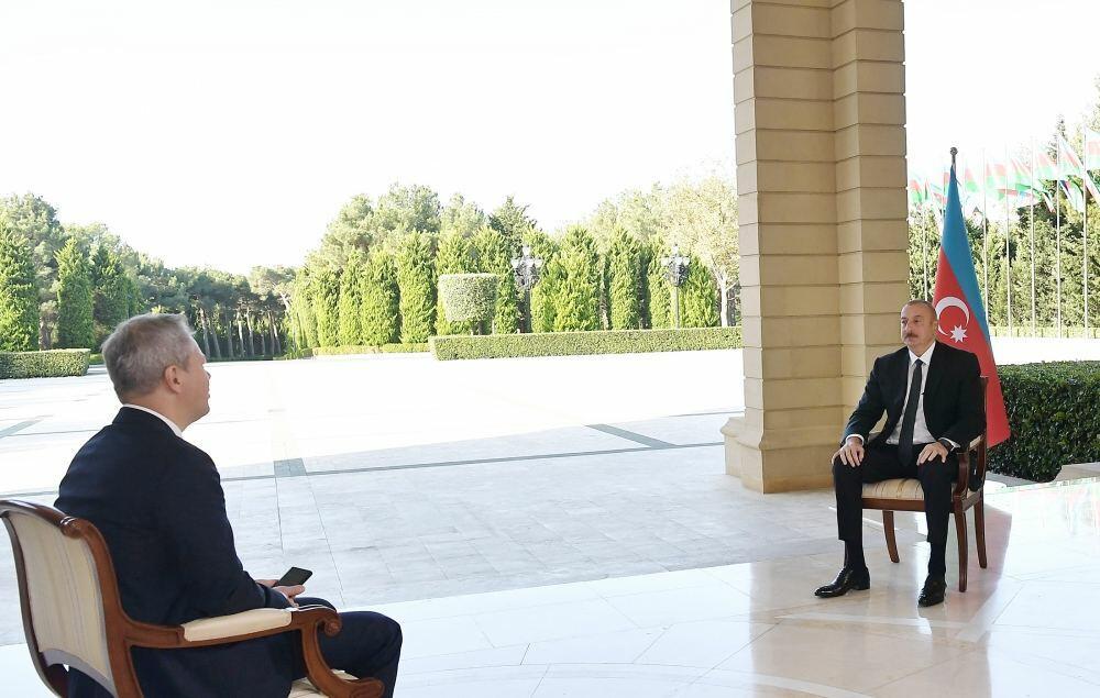 Хроника Победы: Интервью Президента Ильхама Алиева телеканалу РБК России от 10 октября 2020 года