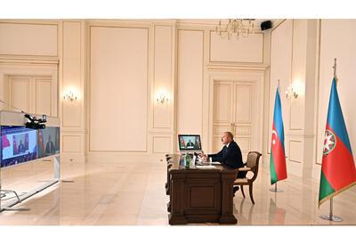 Президент Ильхам Алиев выступил в видеоформате на заседании высокого уровня Движения неприсоединения - ФОТО - ВИДЕО