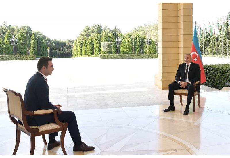 "Хроника Победы: Интервью Президента Ильхама Алиева турецкому телеканалу ""Haber Global"" от 12 октября 2020 года"