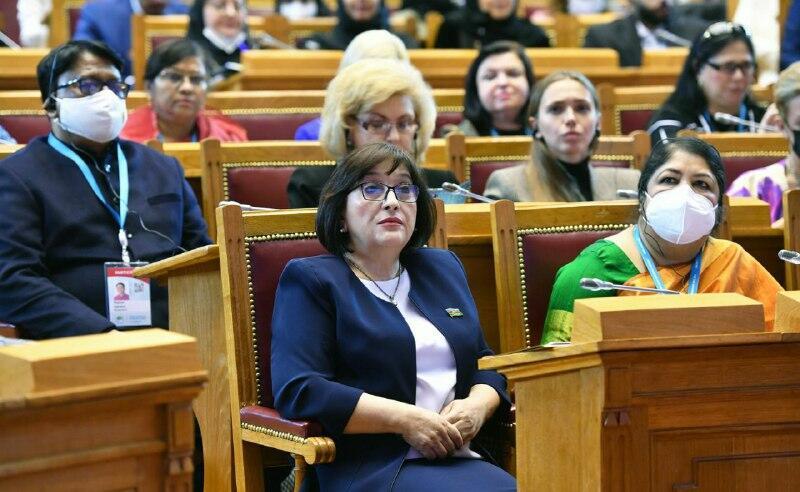 Сахиба Гафарова выступила на пленуме Третьего Евразийского женского форума