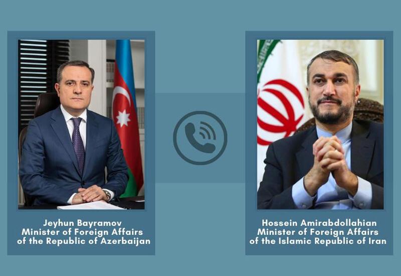 Главы МИД Азербайджана и Ирана провели телефонный разговор