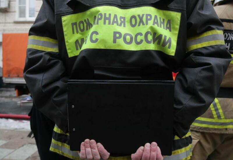 В новостройке в  Москве произошел пожар