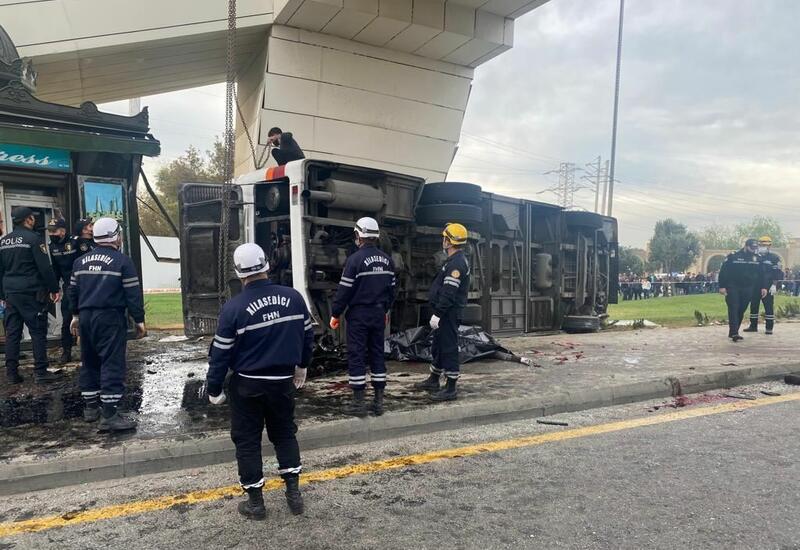 Распространились жуткие кадры аварии в Баку
