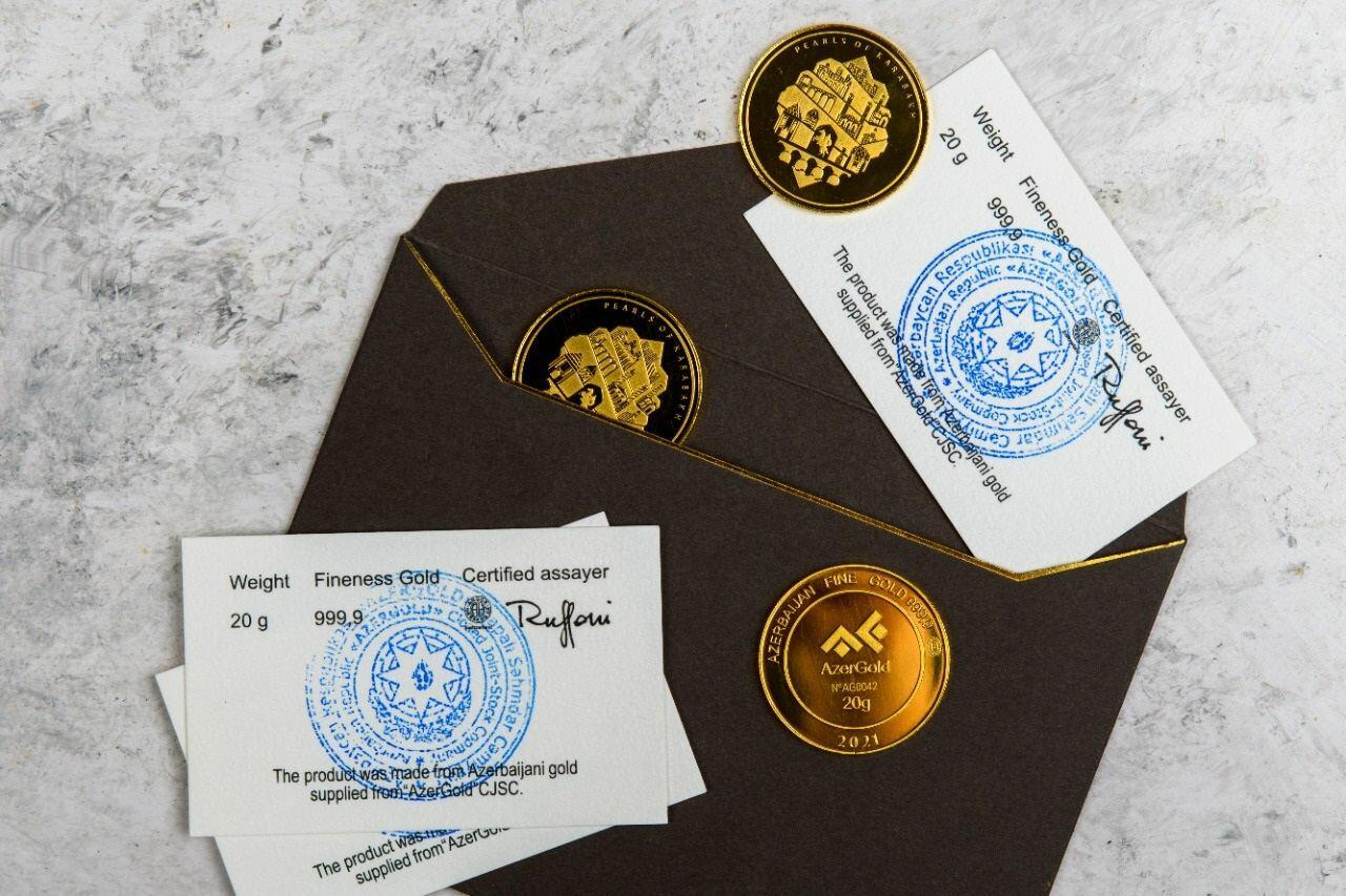 """ЗАО """"AzerGold"""" выпустило новую серию золотых монет"""