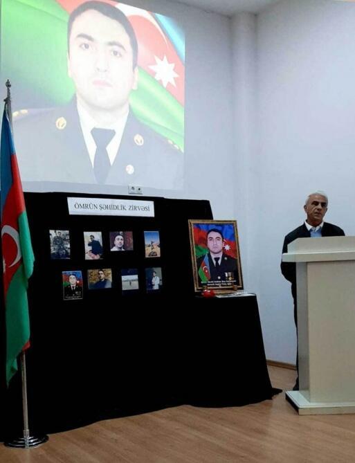 В Габале почтили память шехида Отечественной войны Агшина Энверли
