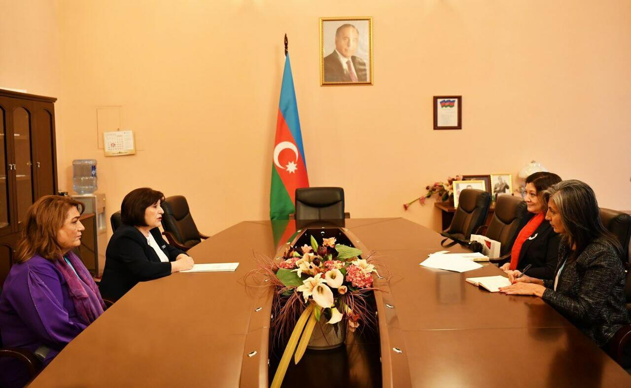 Сахиба Гафарова встретилась с директором Структуры «ООН-женщины» по странам Европы и Центральной Азии