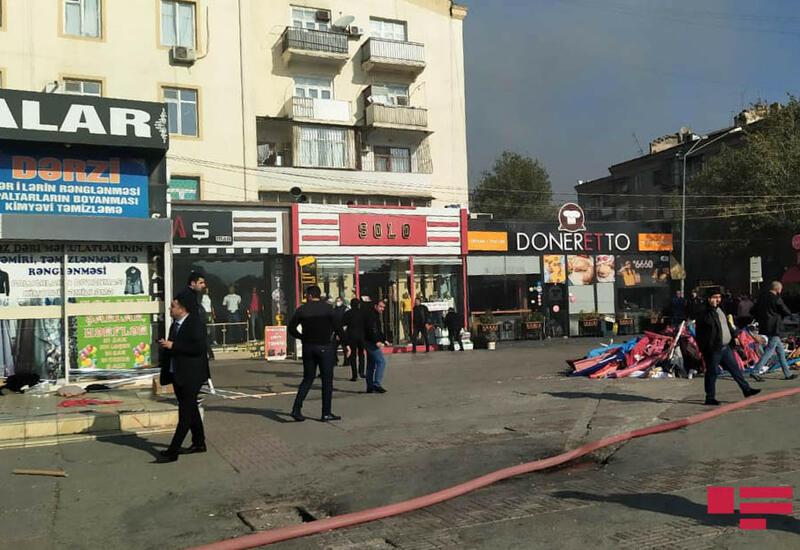 В связи с пожаром в торговом центре ограничено движение еще на одной дороге