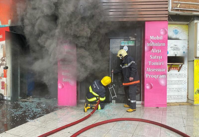 Пожар в Наримановском районе Баку потушен