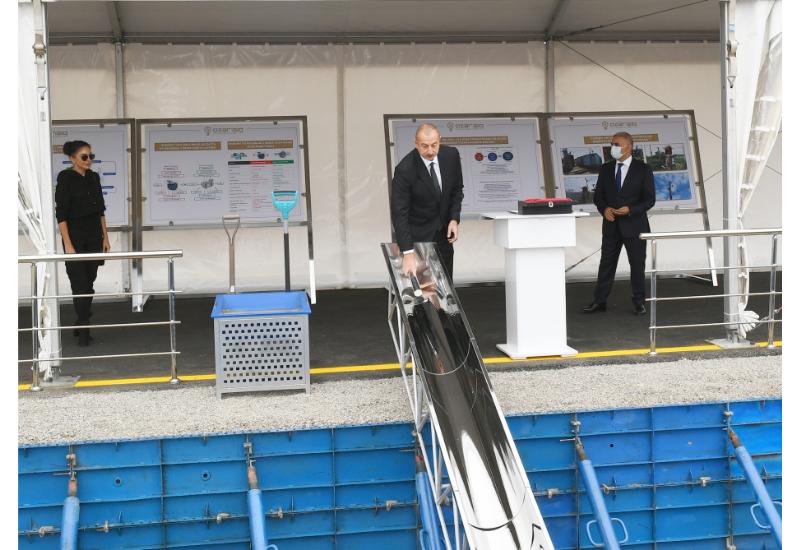 Президент Ильхам Алиев заложил фундамент Центра управления цифровой подстанции в городе Физули