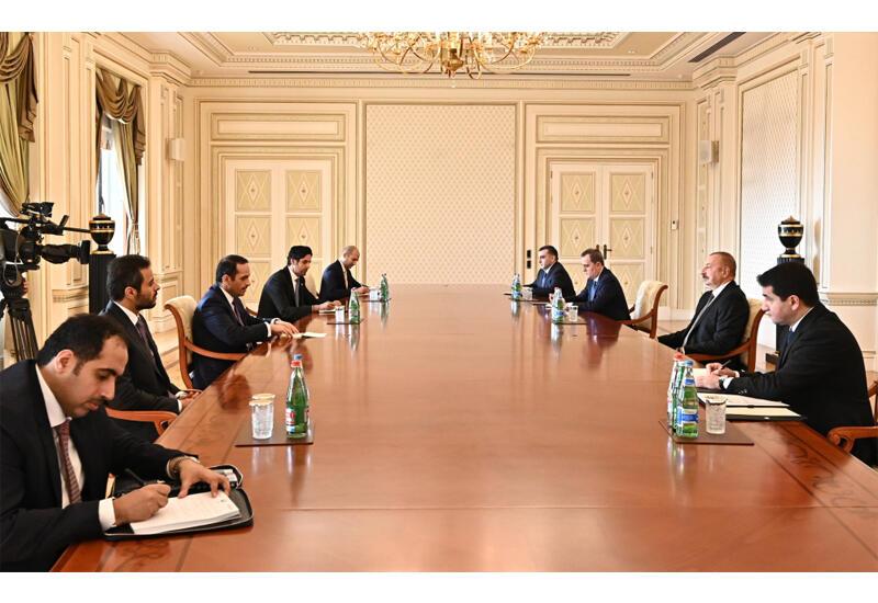 Президент Ильхам Алиев принял делегацию во главе с заместителем премьер-министра Государства Катар