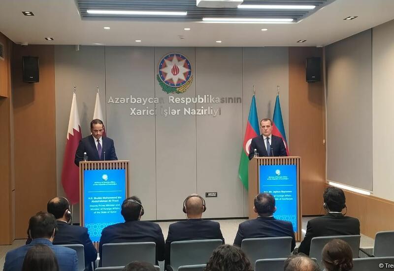 Состоялась пресс-конференция глав МИД Азербайджана и Катара