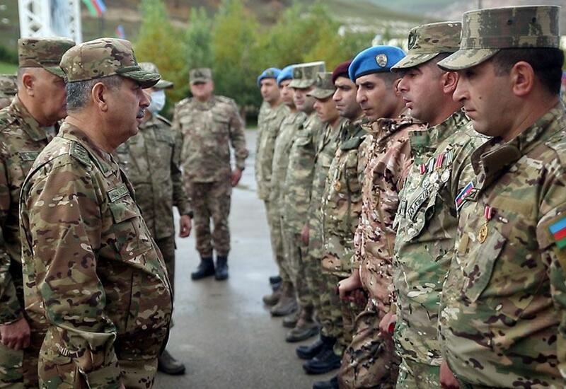 Закир Гасанов посетил новосозданную воинскую часть коммандос
