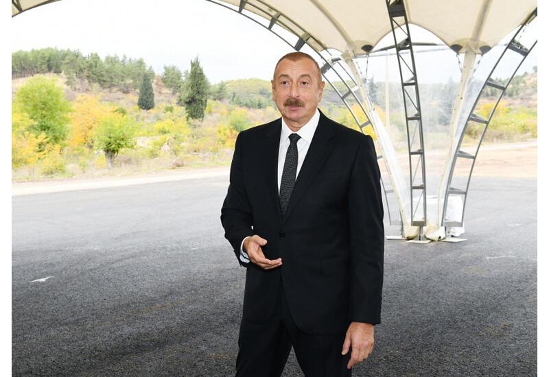 Prezident İlham Əliyev: Zəngilanda müasir logistika-nəqliyyat mərkəzi, bütün infrastruktur qurulacaq