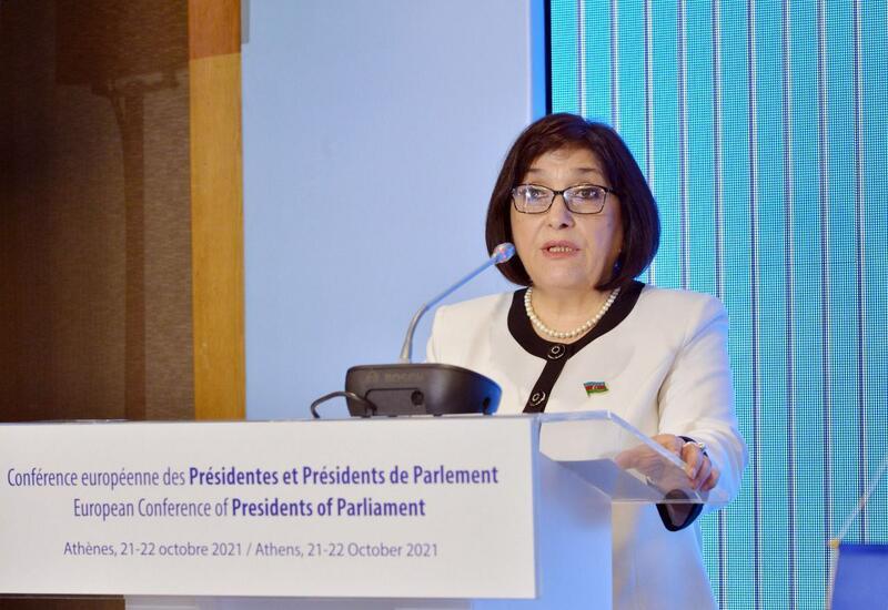 Сахиба Гафарова выступила на Европейской конференции председателей парламентов