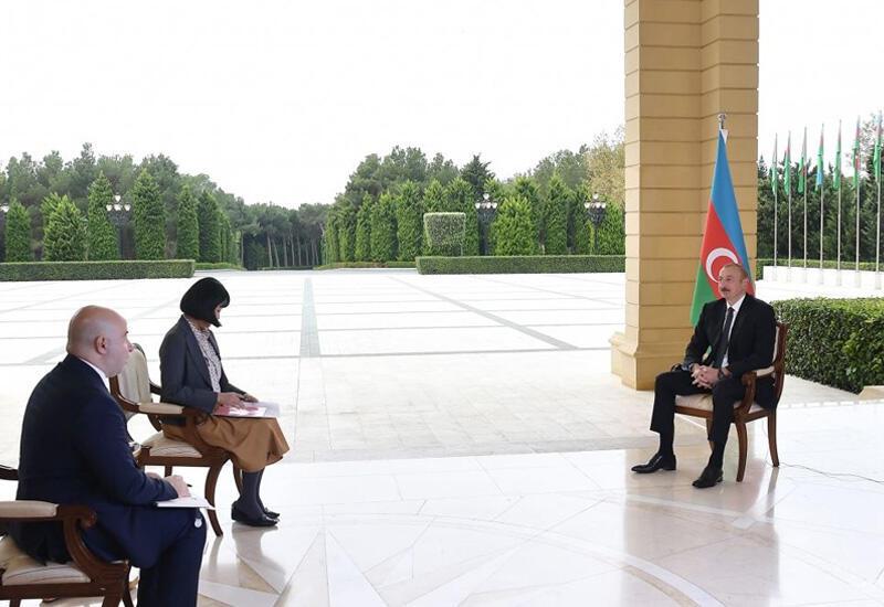 Хроника Победы: Интервью Президента Ильхама Алиева японской газете Nikkei от 21 октября 2020 года